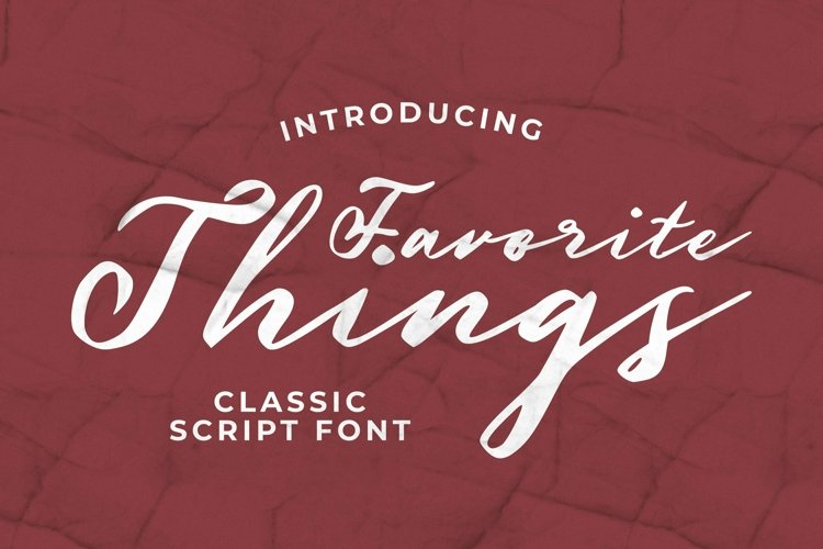 Web Font Favorite Things Font