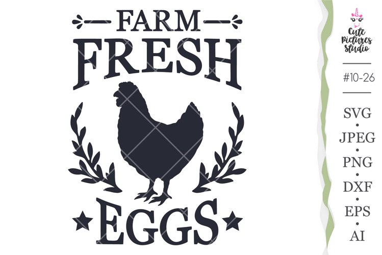 Farm fresh eggs SVG Cricut cut file, Farmhouse sign svg png