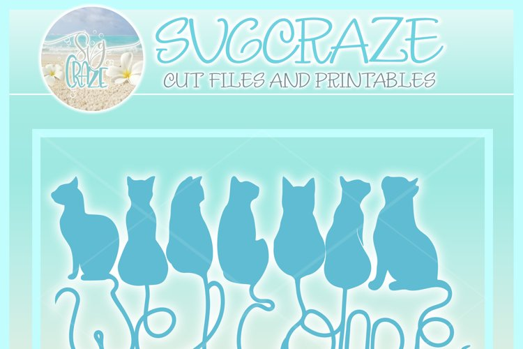 Cats Welcome Coir Door Mat Design Svg Dxf Eps Png Pdf Files - Free Design of The Week Design2