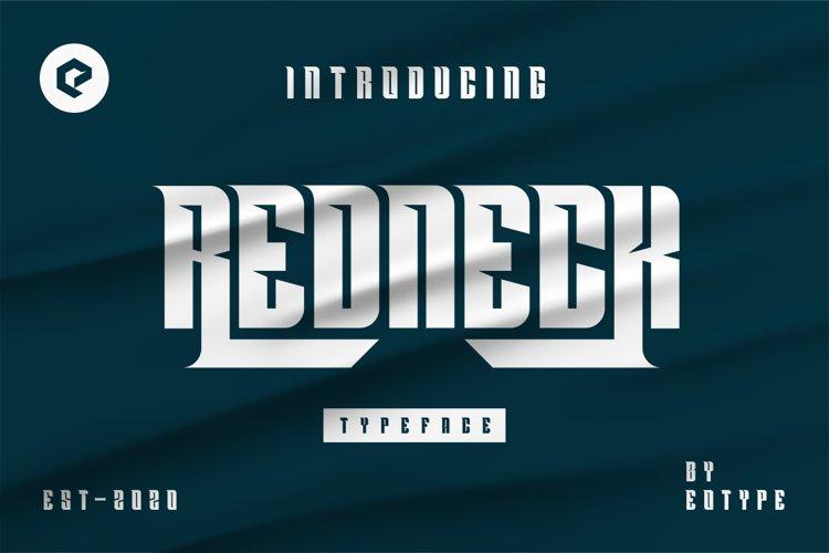REDNECK Typeface example image 1
