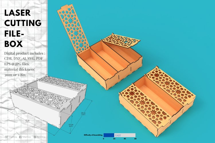 Box- laser cutting file example image 1