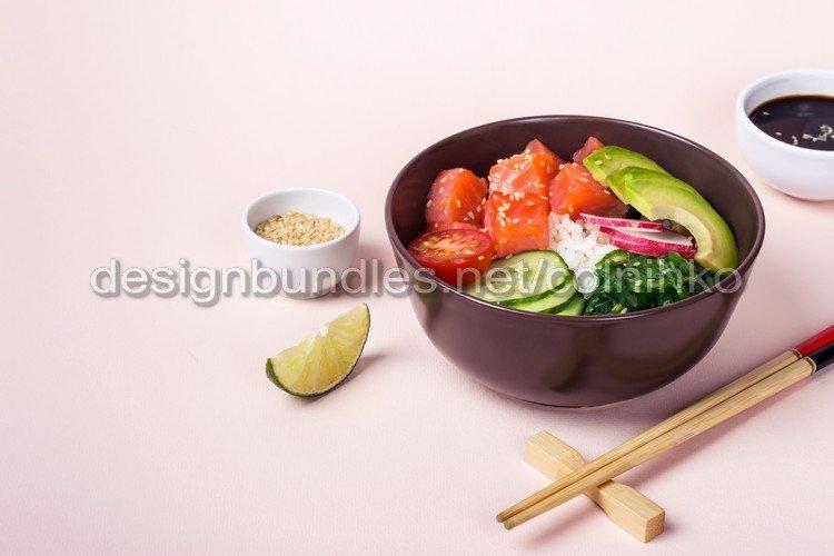 Hawaiian salmon poke salad