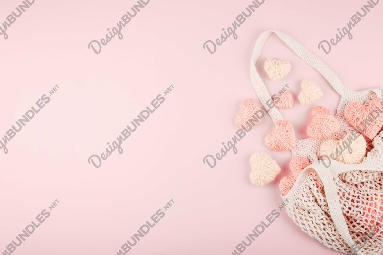 Valentines Day template, pink background