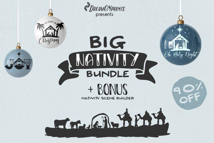 Nativity SVG Bundle | Christmas Nativity Bundle SVG example image 1