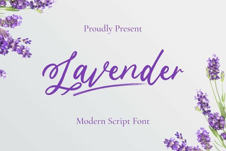 Web Font Lavender Script example image 1