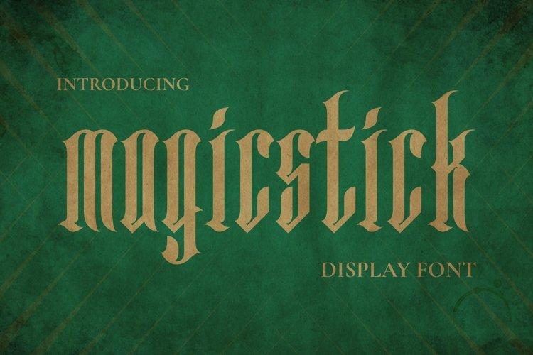 Web Font MAGICSTICK Font example image 1