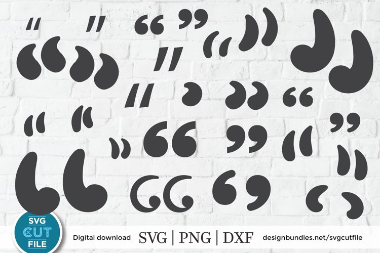 Quotation marks svg - a quotes svg file for Cricut crafters example image 1