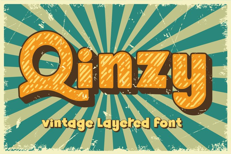 Qinzy - Vintage Font example image 1