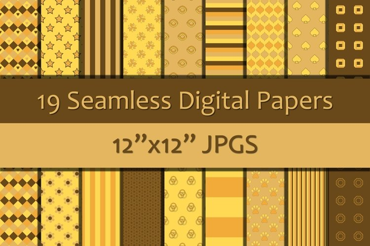 Shades of Brown/Yellow Seamless Digital Papers/Backgrounds example image 1