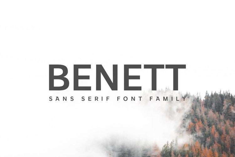Benett Sans Serif Font Family example image 1