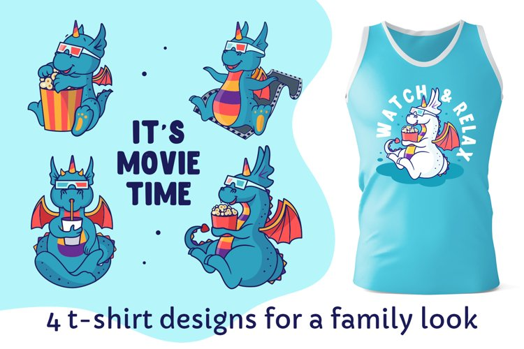Dragon clipart. Animal family. Design sublimation