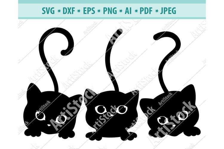 Download Cats peeking Svg, Cute fun kittens Svg, Pets Dxf, Png, Eps ...