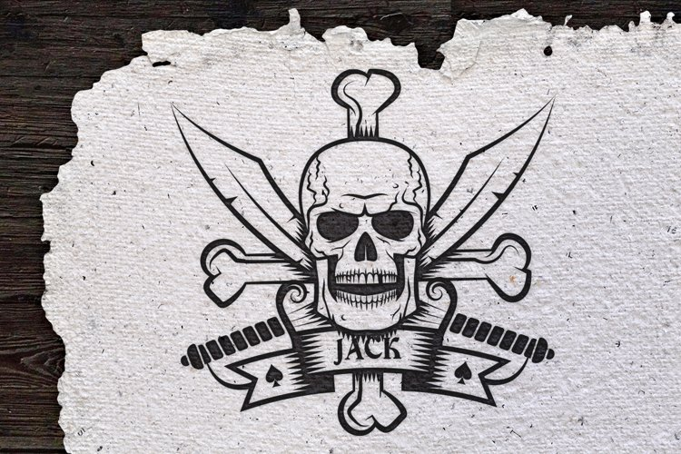 Jolly Roger bones & sabers example