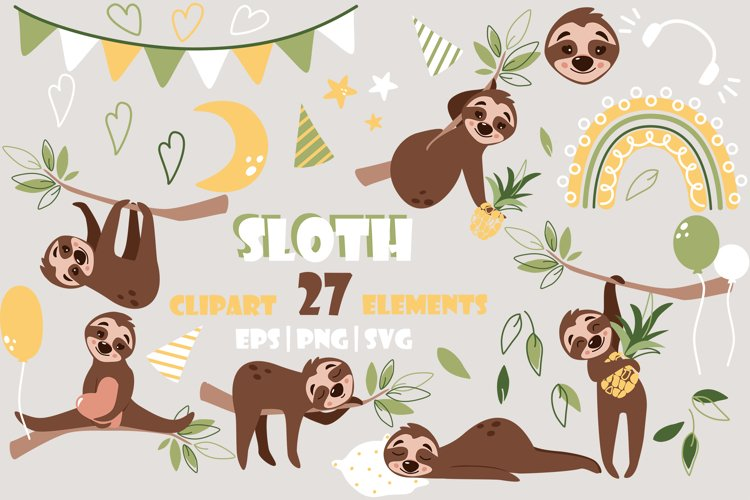 Sloth Svg Bundle - birthday svgs for cricut and sublimation