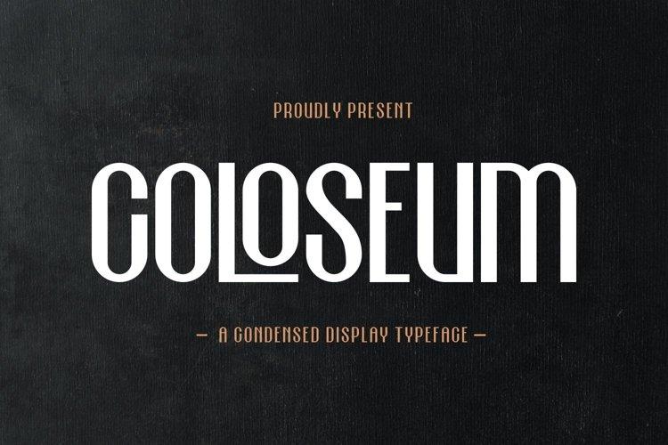 Coloseum - Condensed Display Typeface example image 1