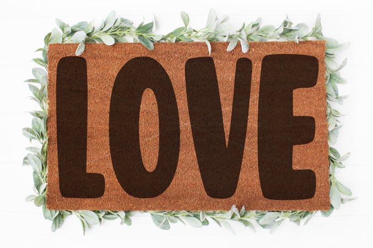 Love Doormat svg   Valentine svg   Welcome sign svg  Love example image 1