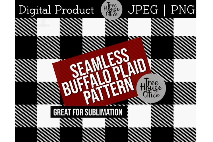 Buffalo Plaid Pattern for Sublimation PNG JPEG Background example image 1