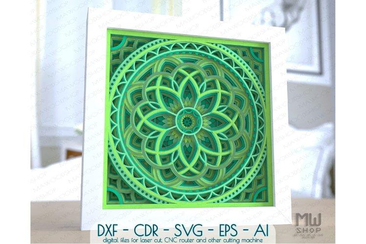 M155 - Multilayer Mandala Pattern Shadow Box Mandala SVG DXF