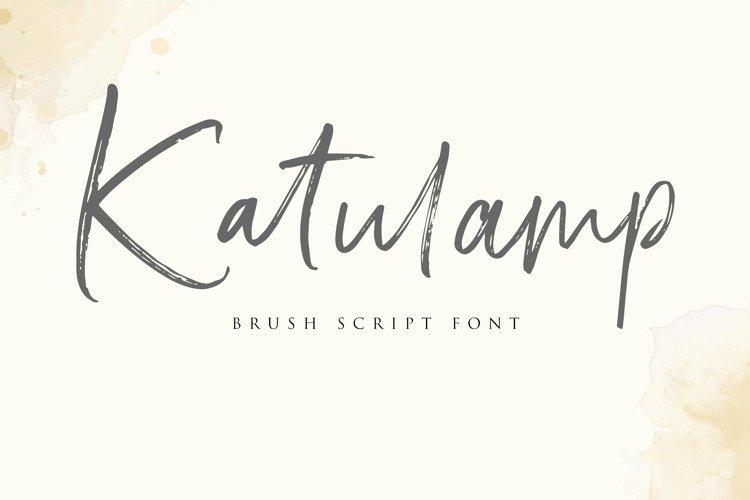 Web Font Katulamp Font Duo example image 1