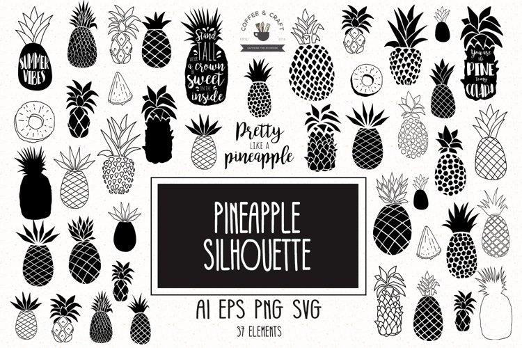Pineapple Silhouette SVG