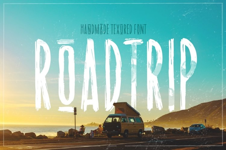 Road trip | dry marker textured font example image 1