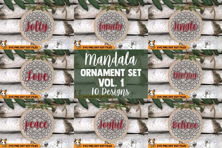 Christmas Ornament SVG - Mandala SVG Bundle example image 1