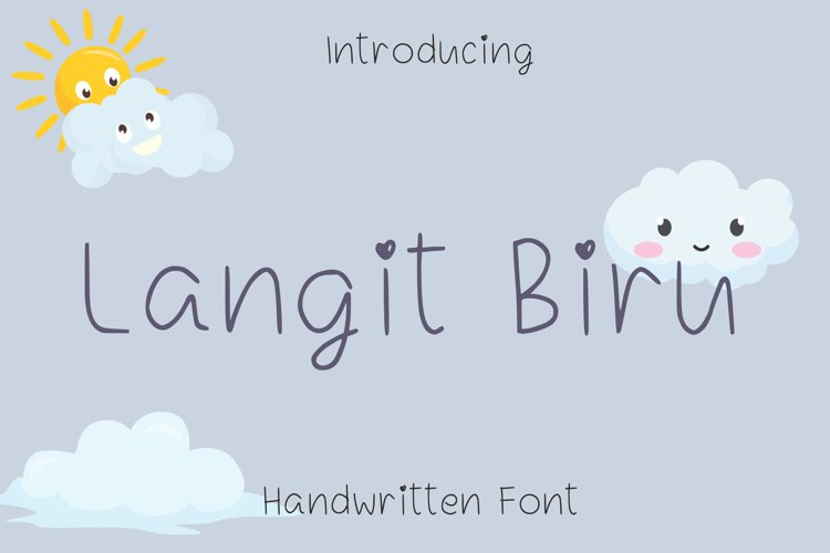 Langit Biru Font example image 1