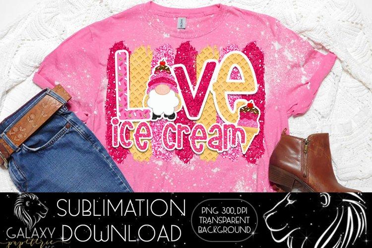 Gnome love Ice cream Sublimation Design PNG File