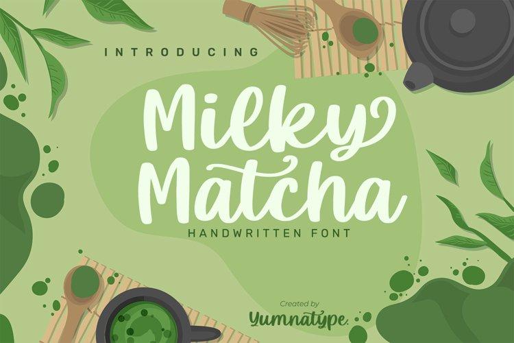 Milky Matcha-Beautiful Handwritten Font example image 1