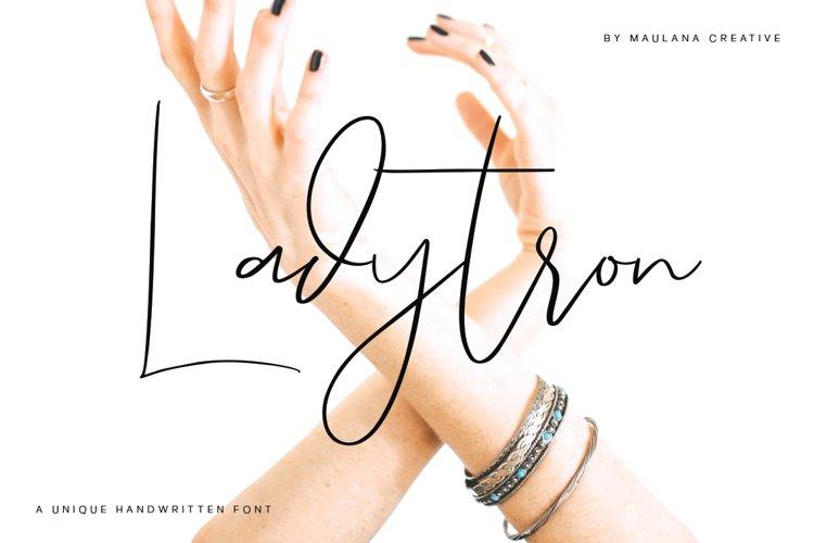 Ladytron Script - Logo Font example image 1