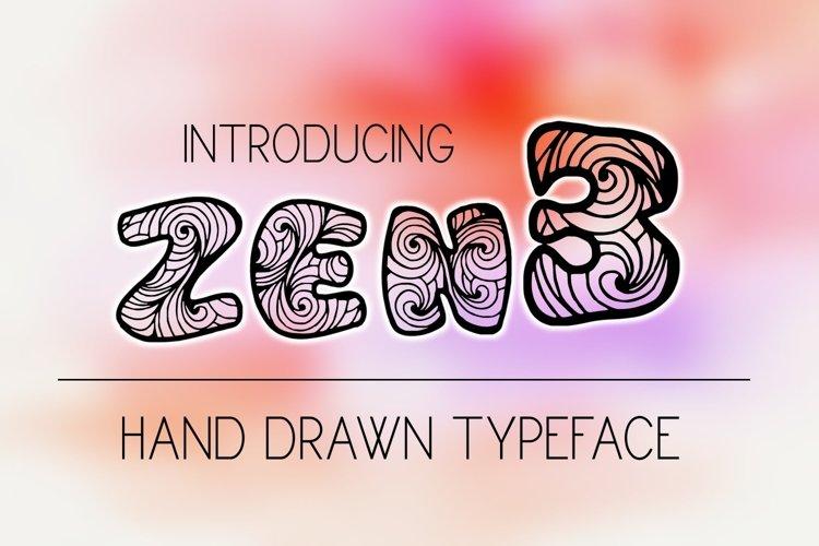 Zen3 Font example image 1