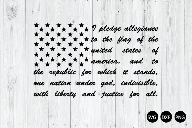 America Flag Pledge SVG, 4th Of July SVG