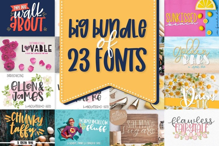 Power Duos - A Huge Font Bundle with 10 duo/trio sets! example image 1