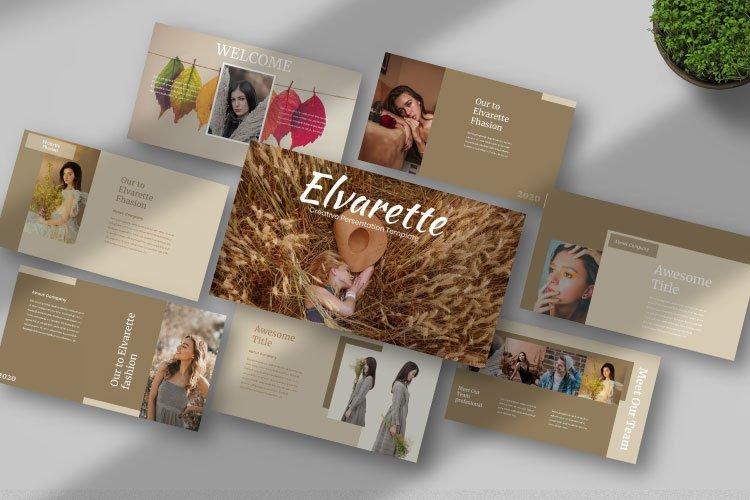 Elvarette - Creative Keynote Template example image 1