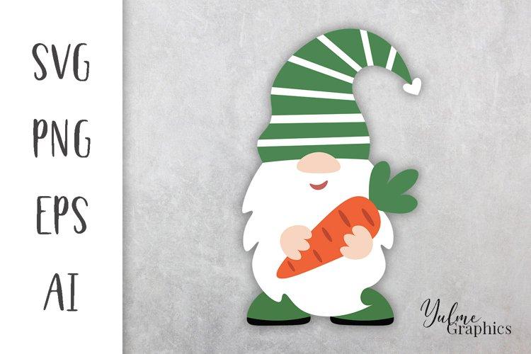 Easter gnome SVG. Easter design SVG. Gnome Easter SVG.