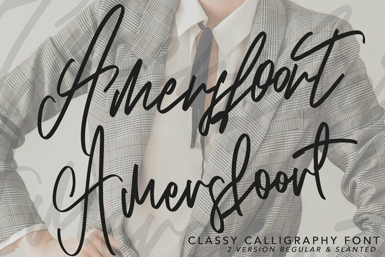 Amersfoort Calligraphy Font | 2 Vers example image 1