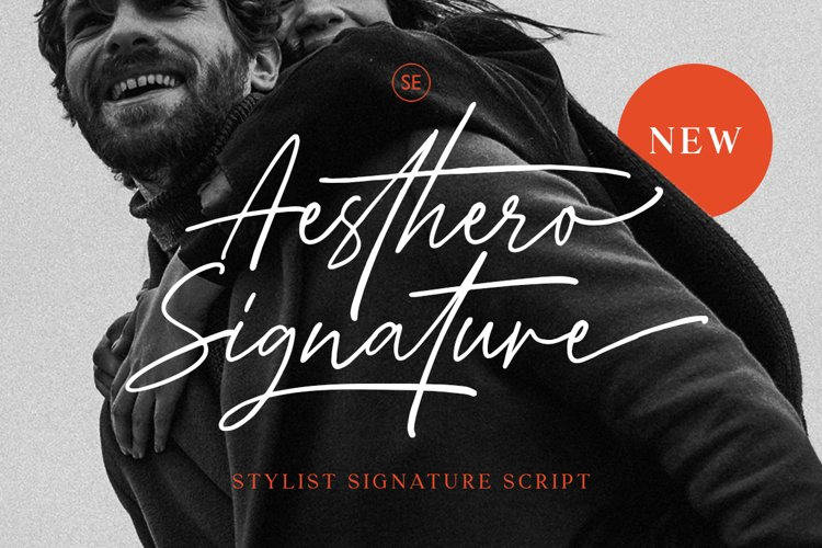 Aesthero - Stylish Signature Script example image 1