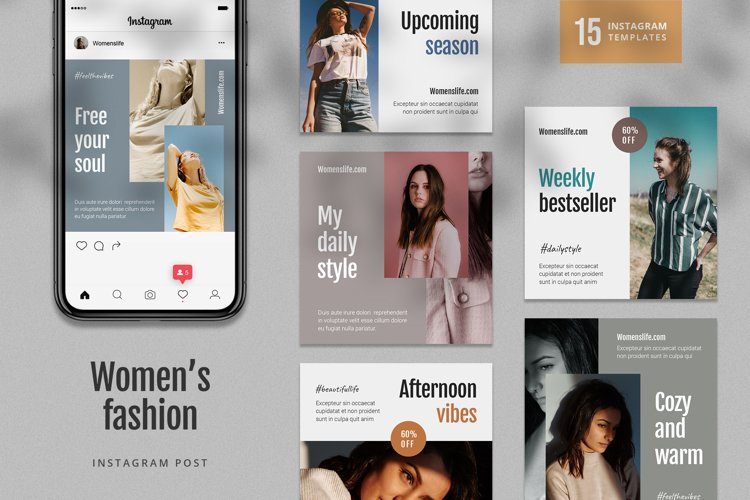 Women Fashion Instagram Post Template example image 1