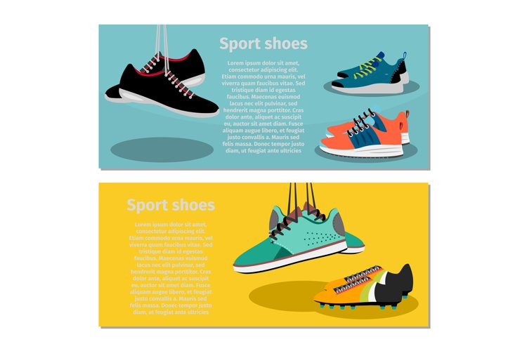 Running sport shoes flyers example image 1