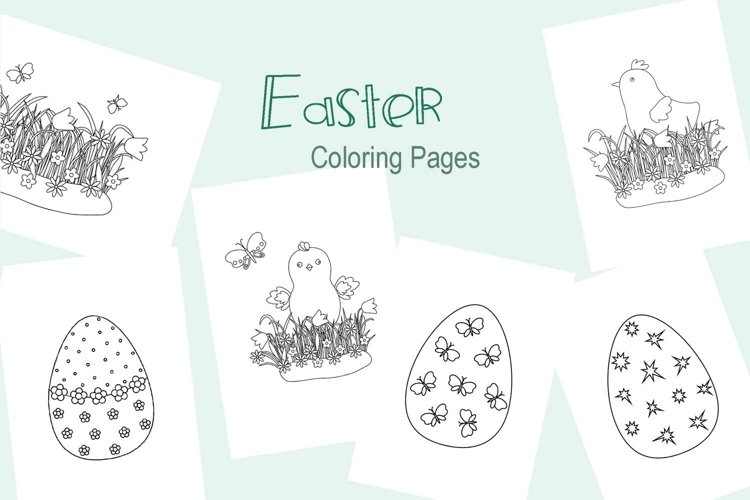 Easter Coloring Pages, activities for children