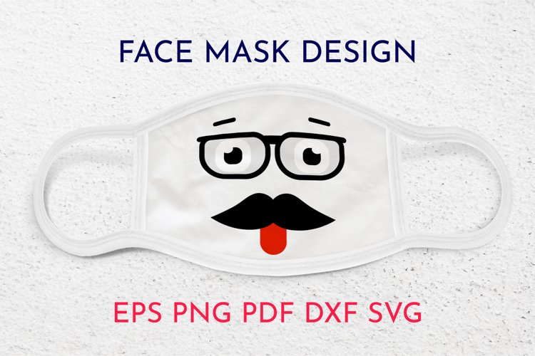 Face mask designs. Smile face. SVG example image 1