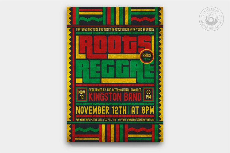 Reggae Music Flyer Template V4