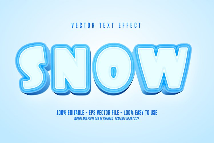 snow text, winter style editable text effect example image 1