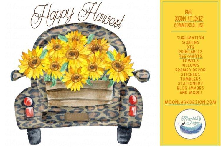 Happy Harvest Leopard Truck w/ Sunflowers example image 1