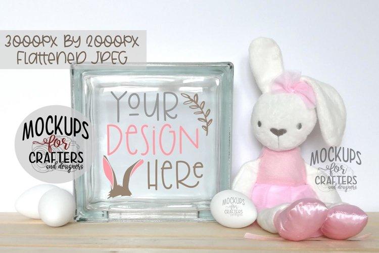 GLASS BLOCK Mock-Up - Bunny, Tutu, Easter, Eggs, Nursery