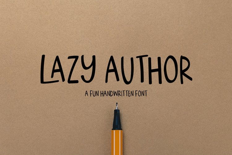 Lazy Author - a handwritten font example image 1
