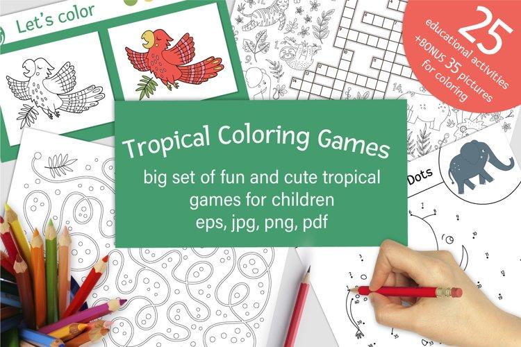 Download Tropical Coloring Games 551751 Educational Design Bundles