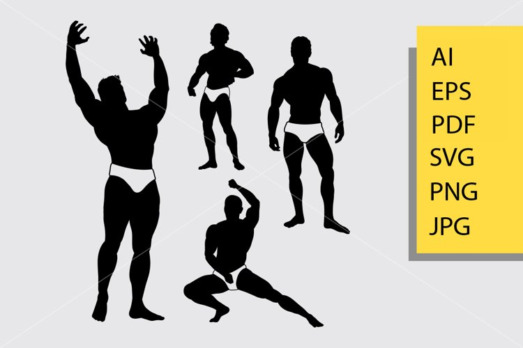 Bodybuilder 3 silhoutte example image 1