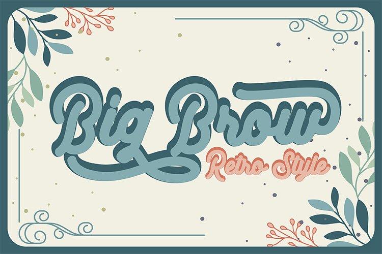 Big Brow - Retro Style example image 1