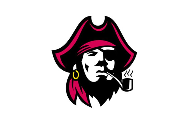 Buccaneer Smoking Pipe Retro example image 1
